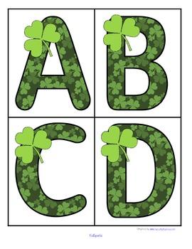 Shamrock alphabet letter clipart clip royalty free St. Patrick's Day Large Shamrock Alphabet... by KidSparkz ... clip royalty free