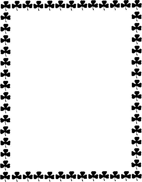 Shamrock border clipart black & white clipart svg freeuse stock Free Free Shamrock Clipart, Download Free Clip Art, Free ... svg freeuse stock