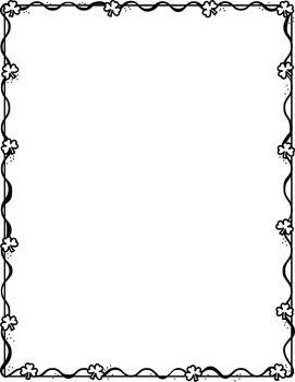 Shamrock border clipart black & white clipart vector library library Shamrock Frame | clip art | Wedding fabric, Polyvore, Lace ... vector library library
