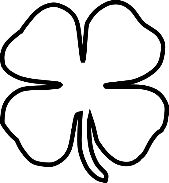 Shamrock border clipart black & white clipart png free library Shamrock Thick Border Clip Art at Clker.com - vector clip ... png free library