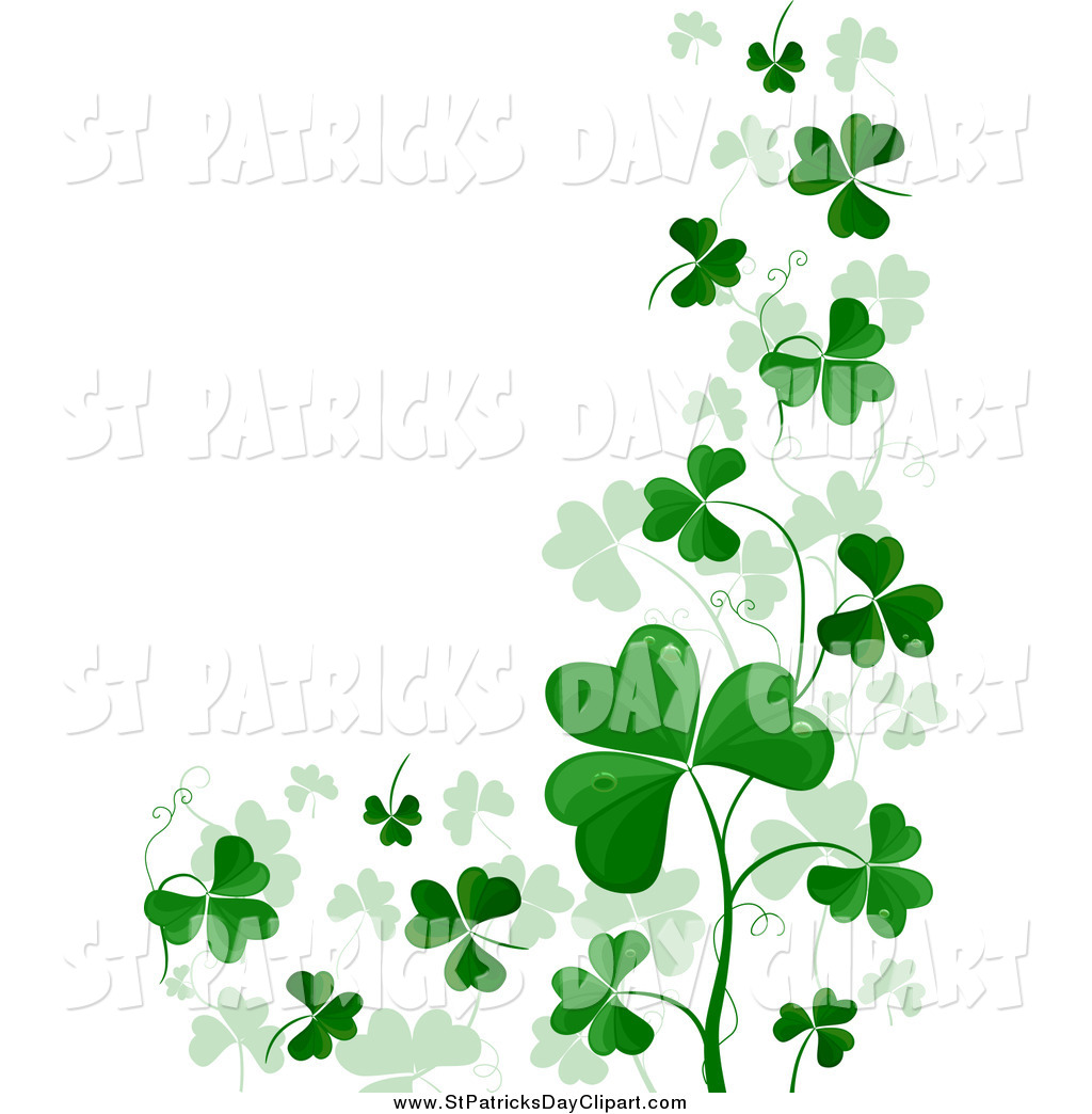 St patricks day divider clipart png freeuse download Shamrock Border Clipart | Free download best Shamrock Border ... png freeuse download