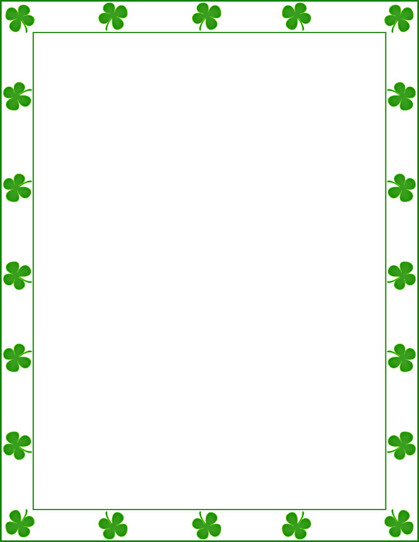 Shamrock frame clipart svg freeuse saint Patrick shamrock border | Borders | St patricks day ... svg freeuse