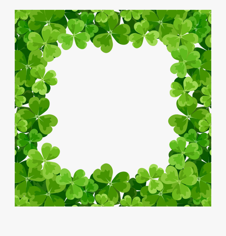 Shamrock frame clipart clip black and white St Patricks Day Border Png - St Patrick\'s Day Frame Border ... clip black and white
