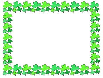 Shamrock frame clipart picture transparent download Green Is In! Shamrock Frames and Borders Freebie | Clip art ... picture transparent download