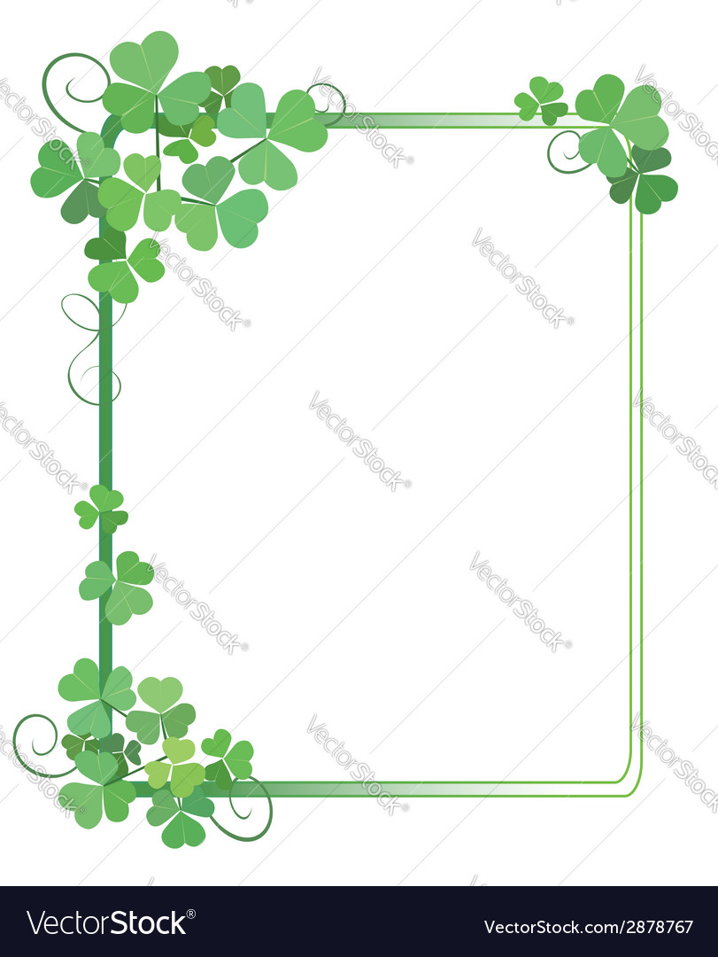 Shamrock frame clipart jpg free stock Decorative green frame with shamrock jpg free stock