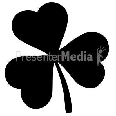 Shamrock silhouette clipart picture stock A silhouette of a three leaf clover. #powerpoint #clipart ... picture stock