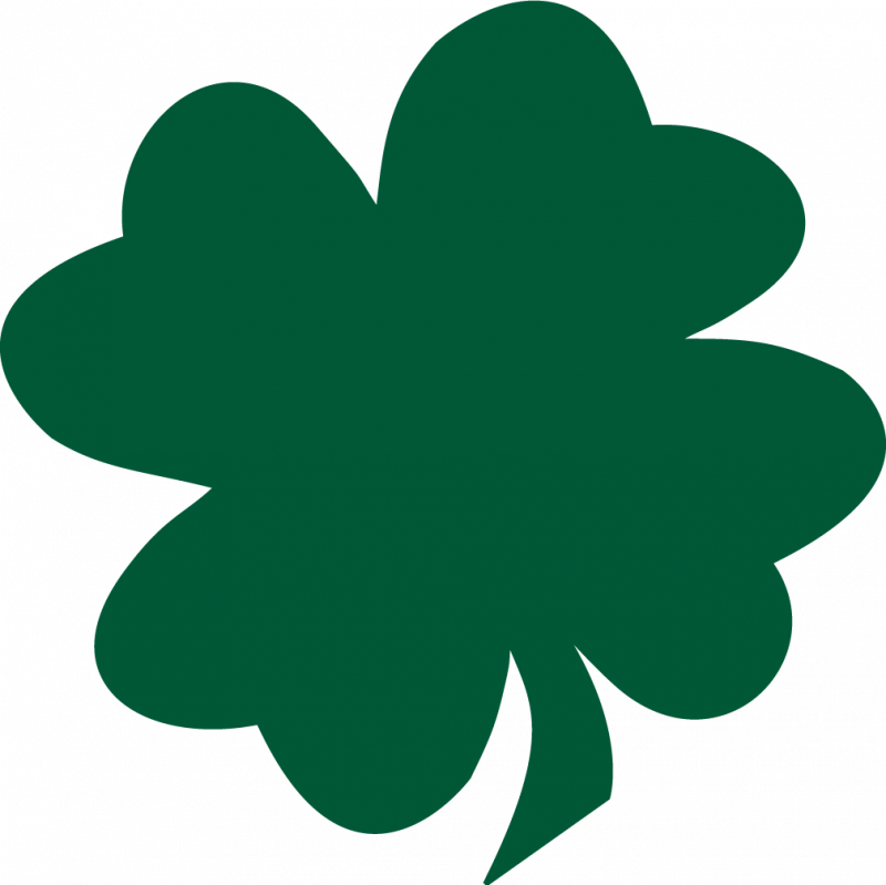 Shamrock silhouette clipart black and white download Shamrock Saint Patricks Day Four-leaf clover Free content ... black and white download