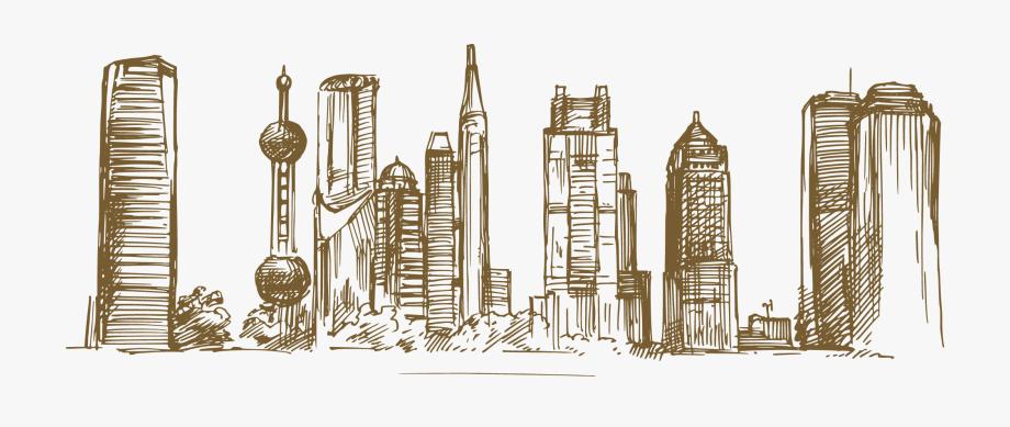 Shanghai clipart png free library Skyscraper Vector Landmark Shanghai - Una Ciudad Con Lineas ... png free library