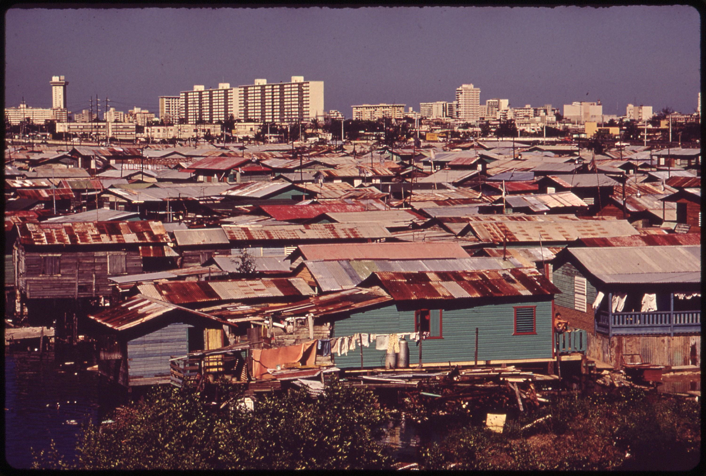 Shantytown clipart jpg royalty free Shanty town along the Martín Peña Canal, 1973 in San Juan ... jpg royalty free