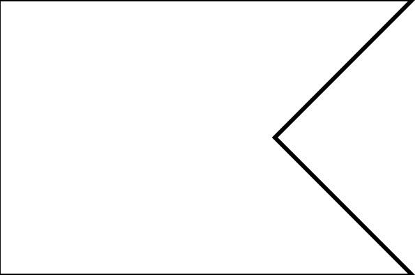 Shape banner clipart jpg free stock Flag Shape Swallowtail clip art Free vector in Open office ... jpg free stock