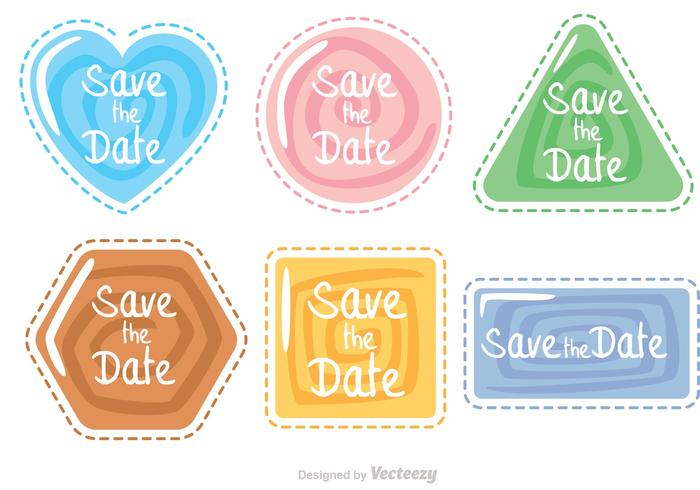 Shape clipart pack png freeuse library Save The Date Swirl Shape Icons Vector Pack - Download Free ... png freeuse library