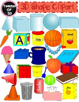 Shape clipart pack clipart library library 3D Shapes Clipart | Teacherfo20TpT | 3d shapes, Clip art, Shapes clipart library library