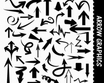 Shapes and arrow clipart png graphics jpg black and white download Basic Flower Shapes Clip Art Graphics Chalk Chalkboard Floral jpg black and white download