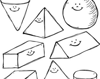 Shapes clipart black and white clip art transparent White 3D Clipart in 3D Shapes Clip Art Black And White ... clip art transparent