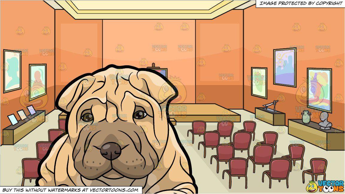 Shar clipart clip art stock clipart #cartoon A Cute Looking Shar Pei Puppy and An ... clip art stock
