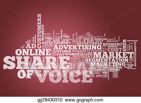 Share of voice clipart picture freeuse Stock Illustration - Word cloud share of voice. Clip Art ... picture freeuse