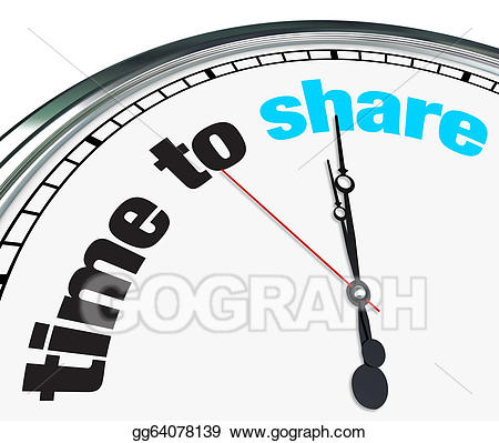 Sharetime clipart banner royalty free stock Clipart - Time to share - ornate clock. Stock Illustration ... banner royalty free stock