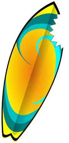 Shark bite surfboard clip art