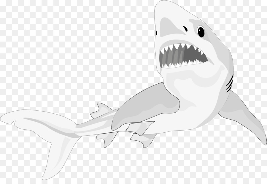 Shark cartilage clipart clipart black and white stock Animal Cartoon clipart - Fish, transparent clip art clipart black and white stock