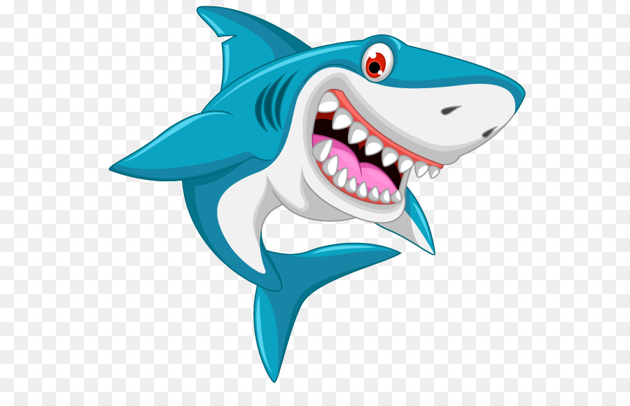 Shark cartoon clipart banner freeuse download Great White Shark Background clipart - Illustration, Drawing ... banner freeuse download