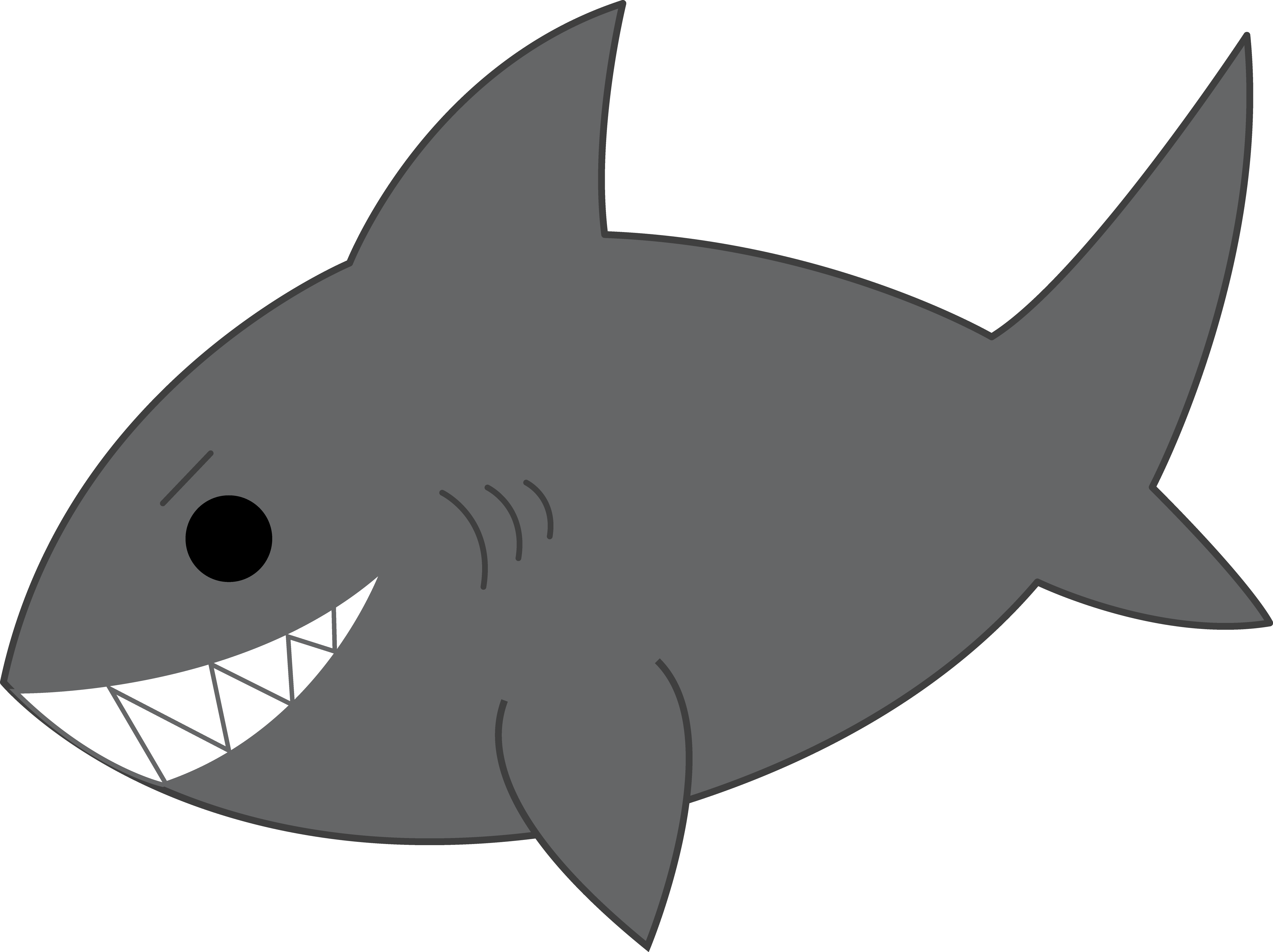 Shark cartoon clipart banner black and white download Free Shark Silhouette Clip Art, Download Free Clip Art, Free ... banner black and white download