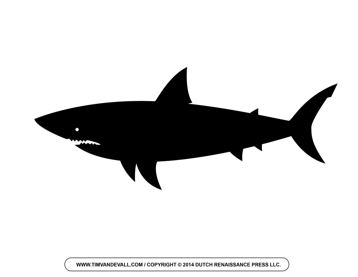 Shark clipart black png library library Free Cartoon Shark Clipart, Shark Outline and Shark ... png library library