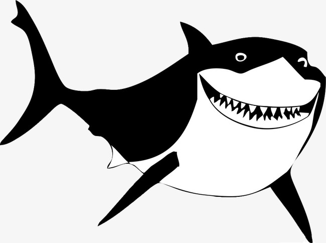 Shark clipart black picture Shark Clipart Black And White Lovely Prestigious 13 | www ... picture