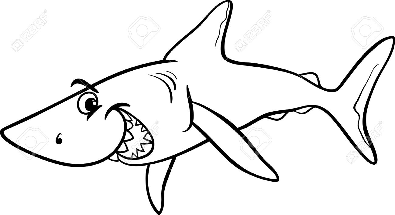 Ocean clipart friendly fish black and white graphic free Shark Clipart Black And White | Free download best Shark ... graphic free