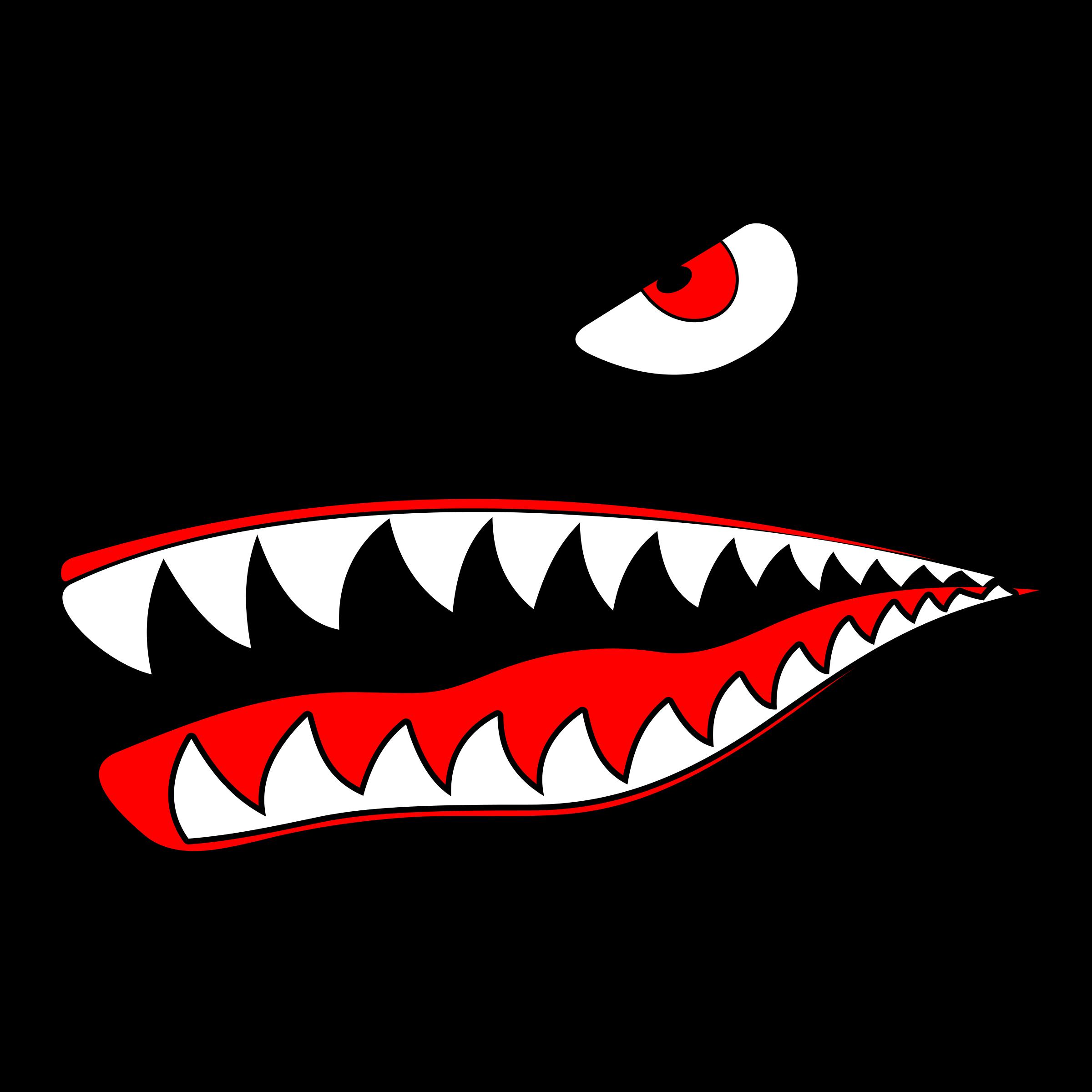 Shark teeth images clipart jpg royalty free Shark Eye and teeth vector clipart image - Free stock photo ... jpg royalty free