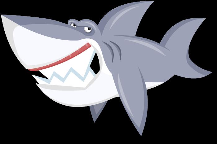 Shark laying in sun clipart