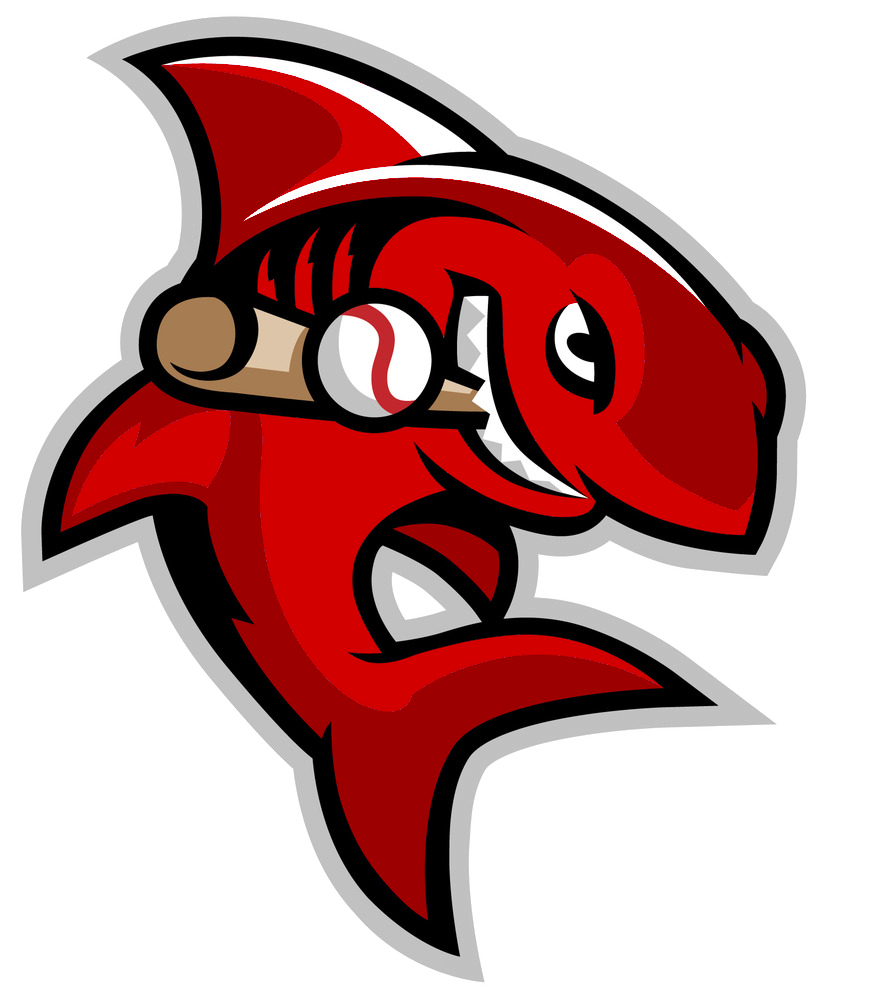 Shark playing baseball clipart image download Jersey/Cap/Logo Request - OOTP Developments Forums image download