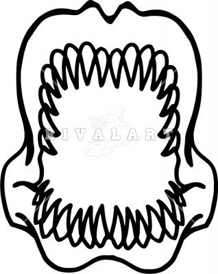 Shark teeth images clipart vector black and white download Shark Teeth Clipart | Clipart Panda - Free Clipart Images vector black and white download