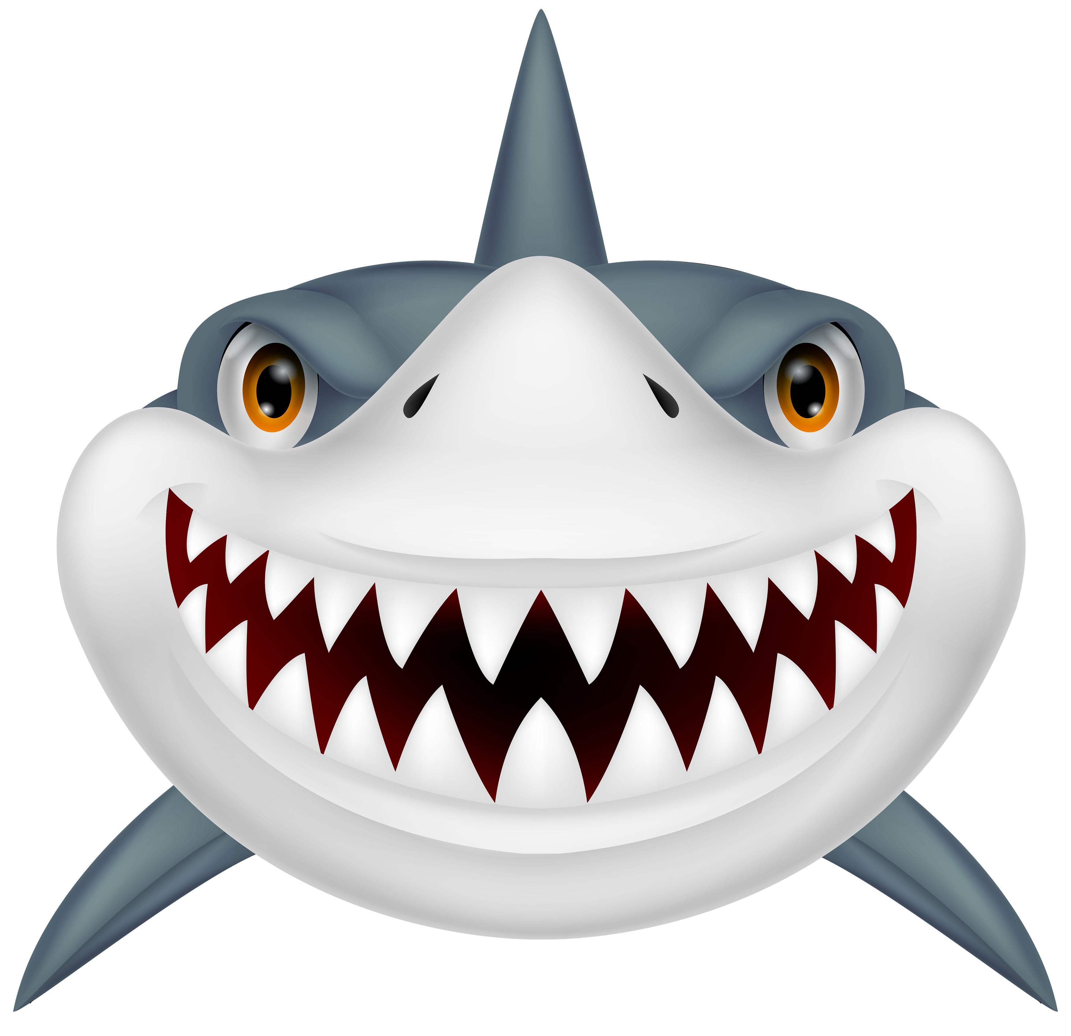 Library Of Shark With Mouth Open Vector Black And White -6682