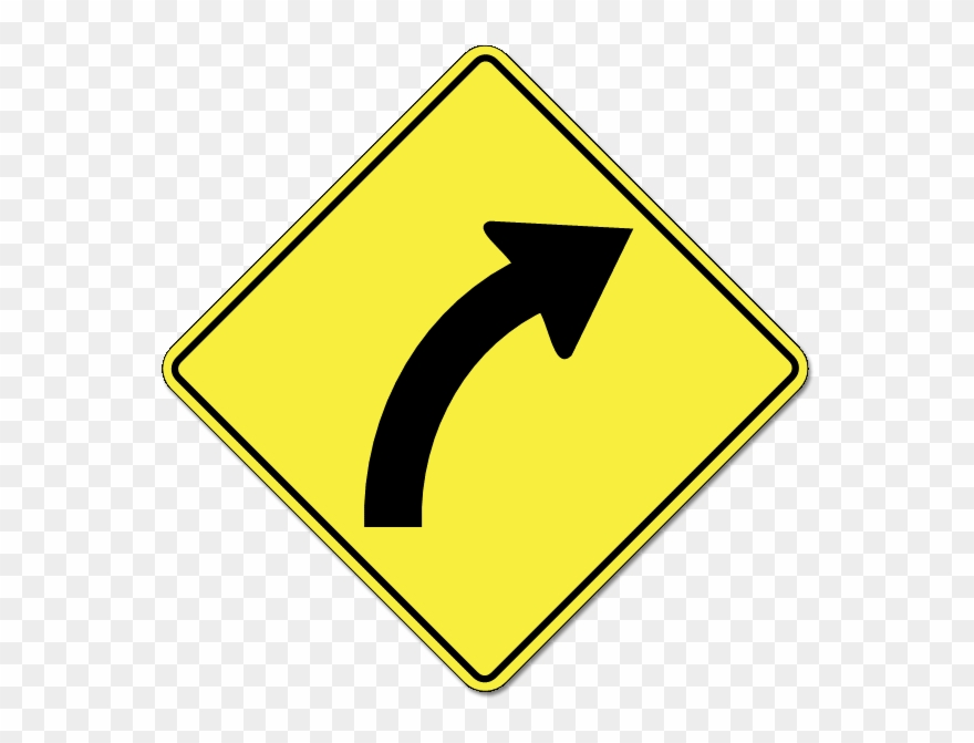 Sharp turn clipart png royalty free library Which Sign Indicates The Road Makes A Sharp Turn To - Right ... png royalty free library