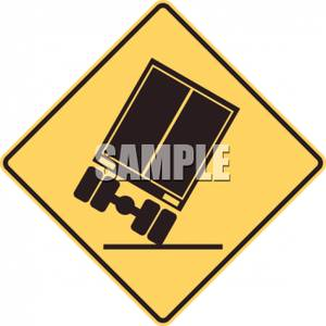 Sharp turn clipart vector transparent stock Yellow Sharp Turn Caution Sign - Royalty Free Clipart Picture vector transparent stock