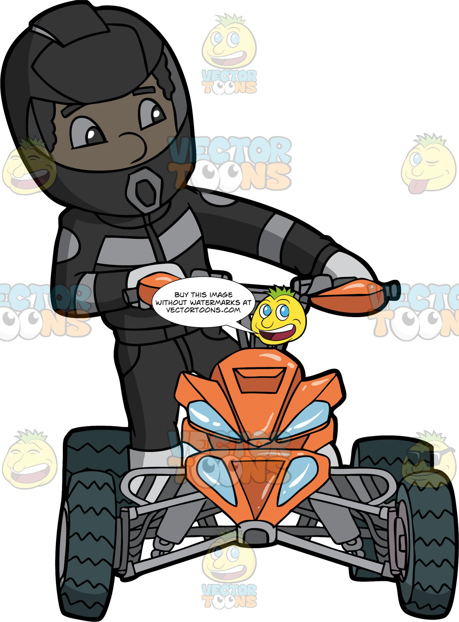 Sharp turn clipart picture library download A Male Quad Bike Racer Taking A Sharp Turn On His ATV picture library download
