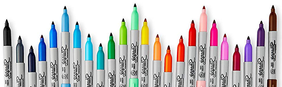 Sharpies clipart banner freeuse Sharpie Retractable Fine Point Permanent Markers, 8 Colored Markers  (32730PP) banner freeuse