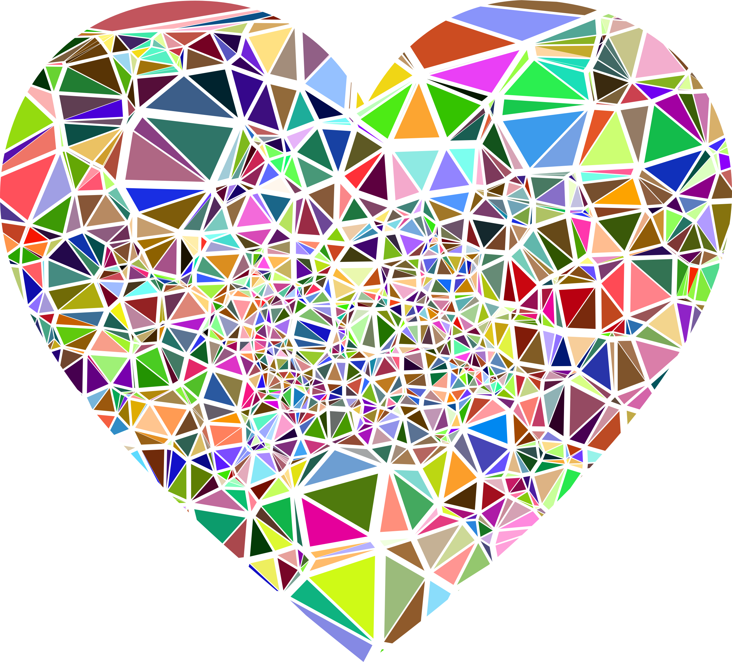 Shattered heart clipart vector black and white library Clipart - Low Poly Shattered Heart vector black and white library