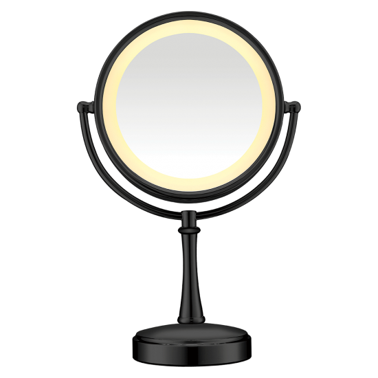 Shaving mirror clipart banner royalty free Conair 3-Way Touch Control Lighted Mirror - Black banner royalty free