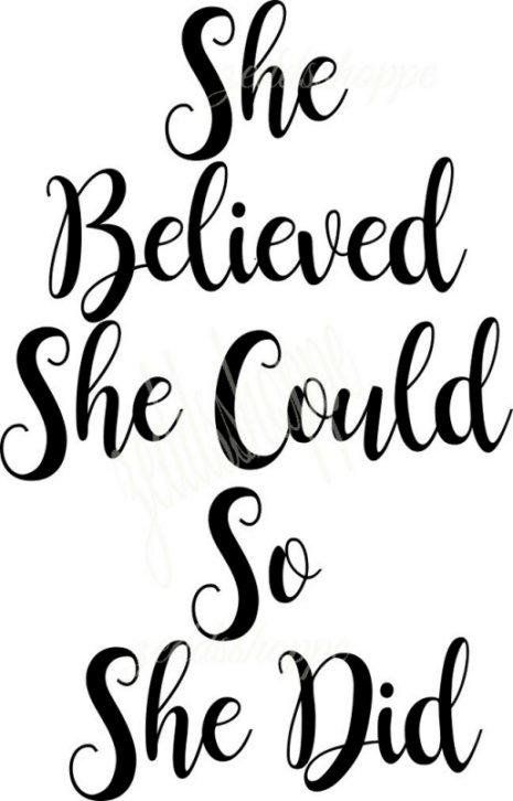 She believed she could so she did clipart vector library download Svg saying She believed she could so she did svg | Cricut ... vector library download