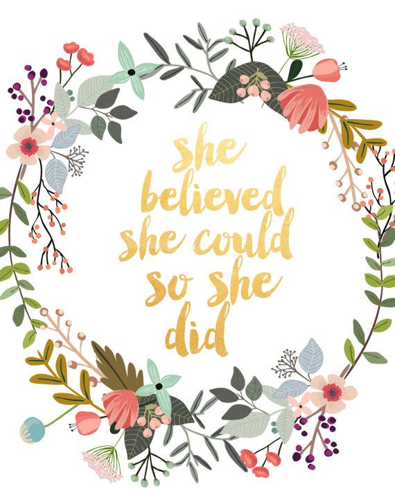 She believed she could so she did clipart banner She Believed She Could So She Did, Motivational Quote ... banner