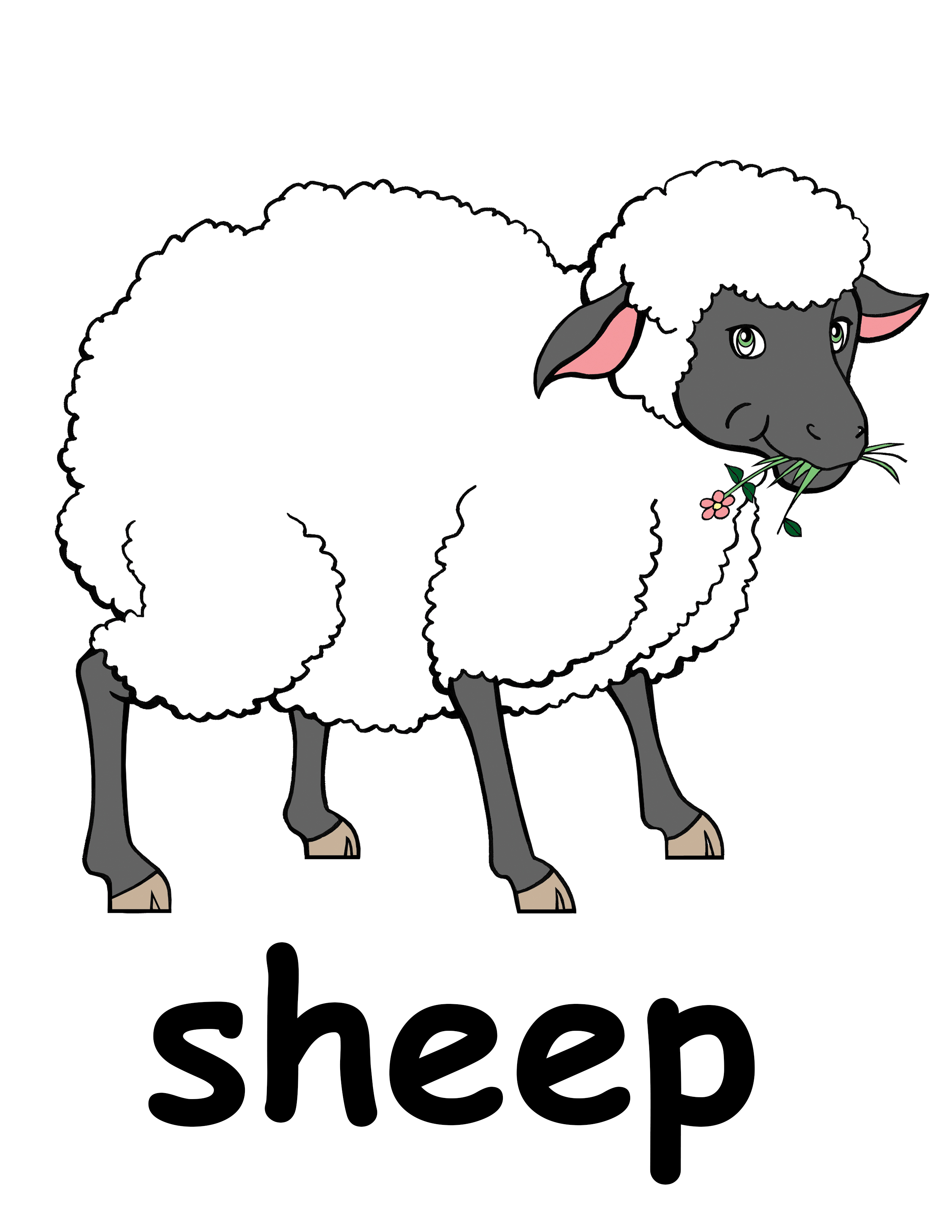 Sheep flock clipart png library Flock of sheep clip art - ClipartPost png library