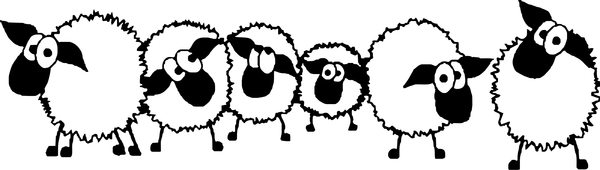 Sheep flock clipart jpg black and white Image result for flock of sheep clipart   Sheep stenils ... jpg black and white