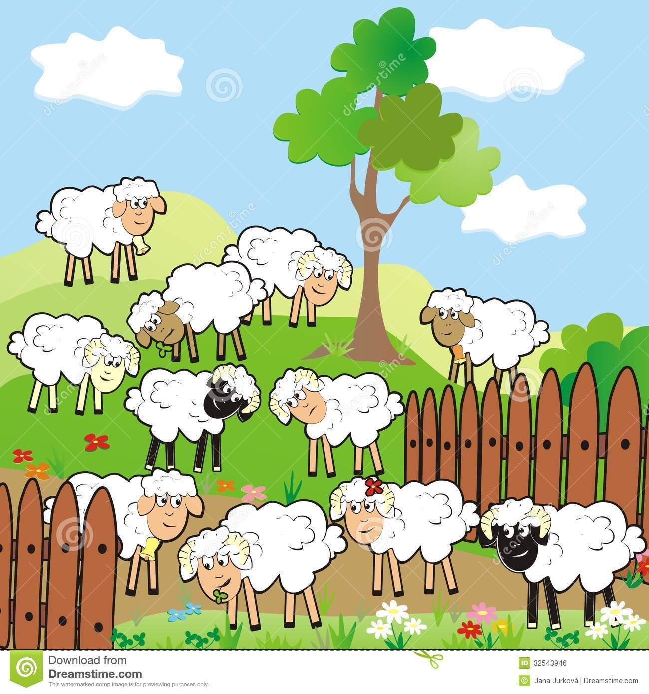 Sheep flock clipart picture library flock of sheep clipart - Google Search   freya   Cartoon ... picture library