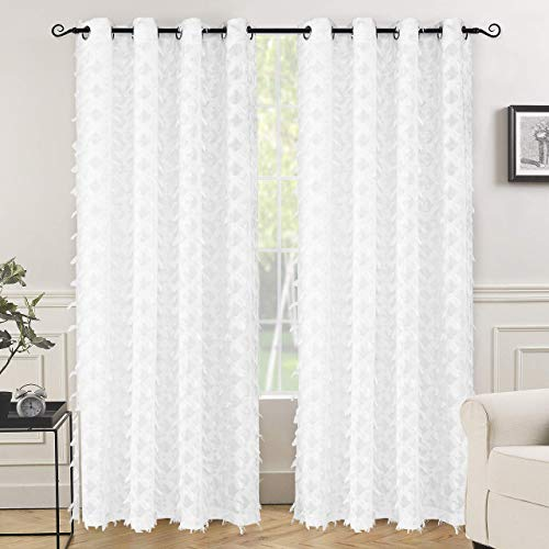 Sheer curtains clipart picture royalty free stock White Sheer Curtains with Pattern: Amazon.com picture royalty free stock
