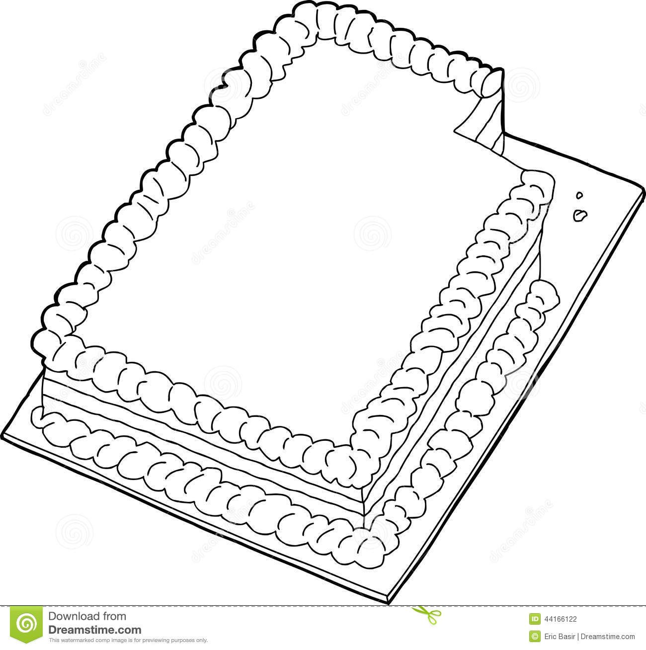 Sheet cake clipart black and white Sheet Cake Clipart - Clipart Kid black and white