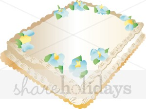 Sheet cake clipart image royalty free download Sheet Cake Clipart | Birthday Cake Clipart image royalty free download