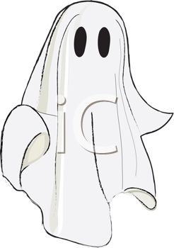 Sheet clipart graphic download Child wearing a a sheet as a ghost Halloween costume - Royalty ... graphic download