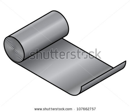Sheet metal clipart graphic stock Roll Sheet Metal Stainless Steel Aluminium Stock Vector 107662760 ... graphic stock
