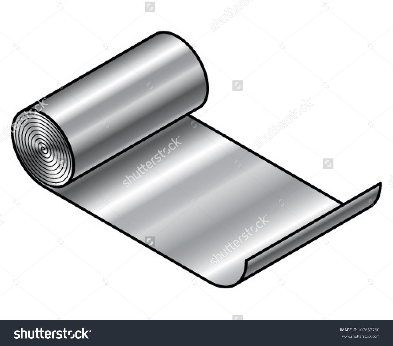 Sheet metal clipart clip art library library Roll Sheet Metal Stainless Steel Aluminium Stock Vector 107662760 ... clip art library library